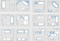 3 4 Bathroom floor plans
