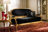 black and gold living room decor